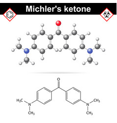 Michlers ketone organic chemical compound vector