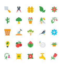 Nature and ecology flat colored icons 2 vector