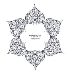 Ornamental round lace circle ornament vector