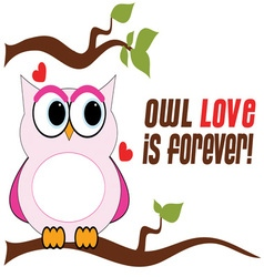 Owl Love Is Forever vector image vector image