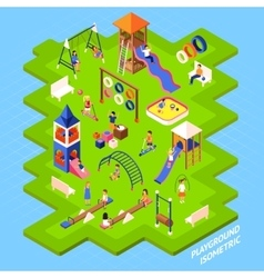 Playground park poster vector