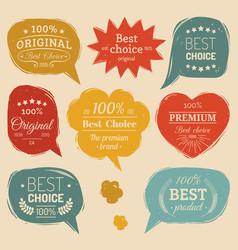 Premium logos set flat style speech vector