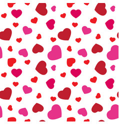 red and pink hearts seamless pattern cute vector image vector image