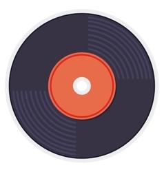 retro music vinyl isolated icon vector image vector image