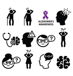 Seniors health - Alzheimers disease and dementia vector image