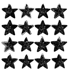 Set of sixteen grunge stars vector