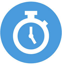 Stopwatch in circle icon vector