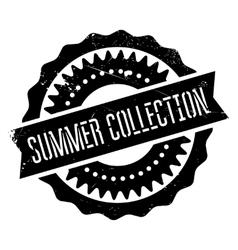 Summer collection stamp vector