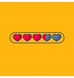Valentines day status bar with flat hearts vector