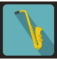 Saxophone icon flat style vector