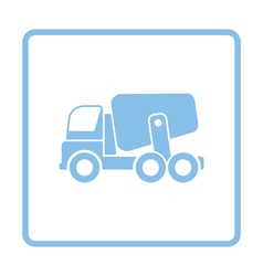 Icon of concrete mixer truck vector