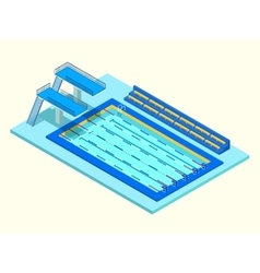 Realistic isometric sport pool creative 3d vector