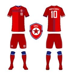 North korea soccer kit football jersey template vector