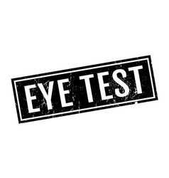 Eye test rubber stamp vector