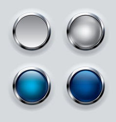 silver button background vector image
