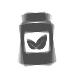 supplements container sign  gray icon vector image