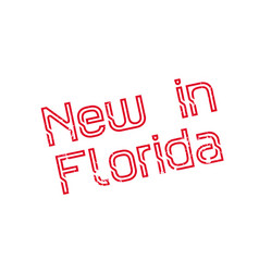New in florida rubber stamp vector