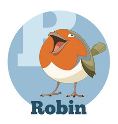 Abc cartoon robin vector