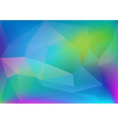 Abstract polygonal colorful light vector