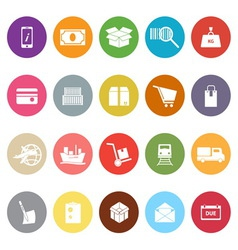 Shipment flat icons on white background vector