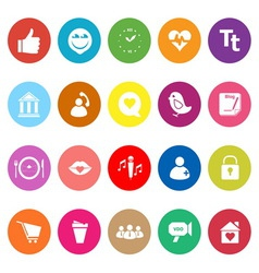 Chat conversation flat icons on white background vector