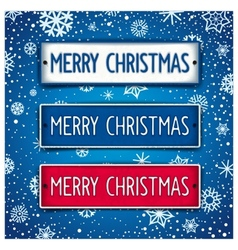 Christmas signboards vector