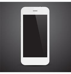 Realistic white smartphone vector
