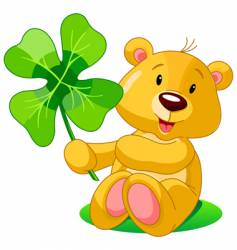 clover bear vector image