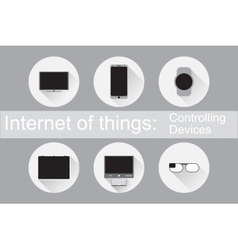 Internet of things control devices flat icons vector