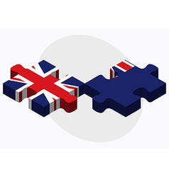 United kingdom and falkland islands flags vector
