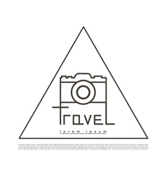 Linear logo for tourism companies and agencies vector