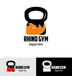 Rhino gym logo vector