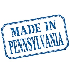 Pennsylvania - made in blue vintage isolated label vector