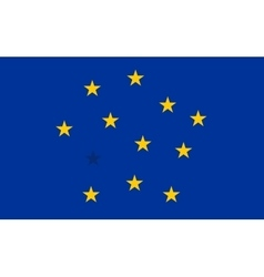 Abstract flag of european union with blended stars vector