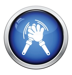 Football fans clap hand toy icon vector