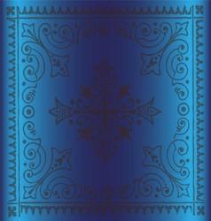 Beautiful vintage floral background blue color vector