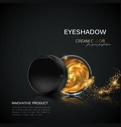 beauty eye shadows ads vector image vector image