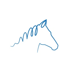 Blue horse vector image
