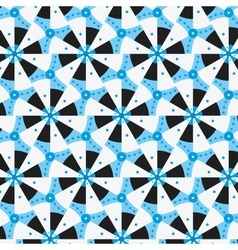 Blue seamless pattern with concentric circles and vector image