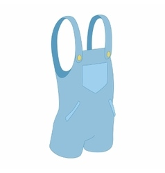 Blue short jumpsuit icon cartoon style vector