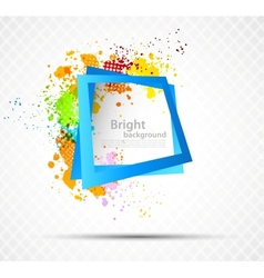 Bright grunge background vector image vector image