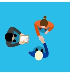 Business partner handshake vector