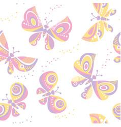 Butterfly seamless pattern vector