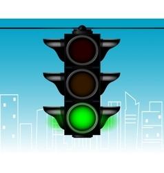 Cartoon style traffic light vector image vector image