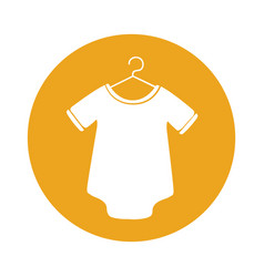 cute baby outfit icon vector image