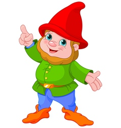 Cute Gnome presenting vector image