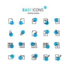 Easy icons 13b docs vector