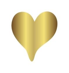 Gold gradient foil heart Valentine day love vector image