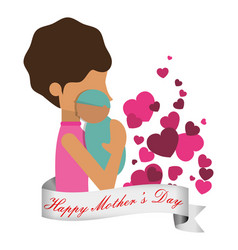 Happy mothers day celebration greeting vector