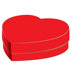 Heart box and Bright gift isolated on white vector image vector image